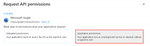 Requesting application permissions