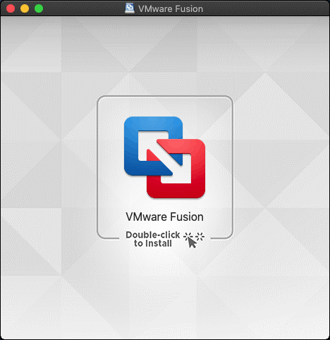 Running the VMware Fusion installer