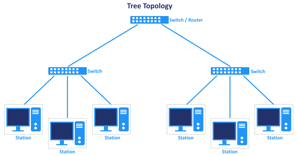 The tree network topology type