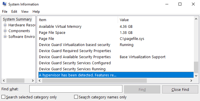 Viewing system information in Windows