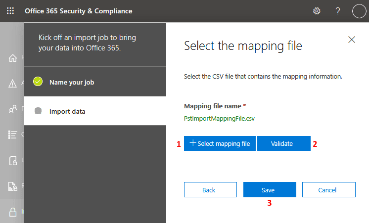 Selecting the mapping file