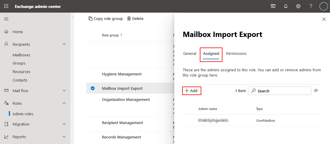 The Mailbox Import Export role must be assigned to import PST file to Office 365