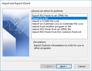 How to export emails from Office 365 to a file