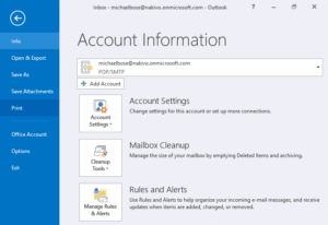 How to print an email to a PDF file in Microsoft Office Outlook 2016