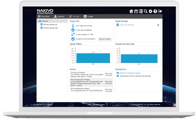 NAKIVO Backup & Replication at a Glance