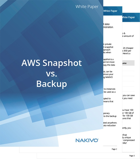 White Paper AWS Snapshot vs. Backup