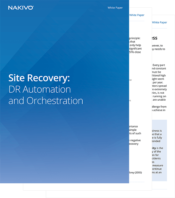 Site Recovery: DR Automation and Orchestration