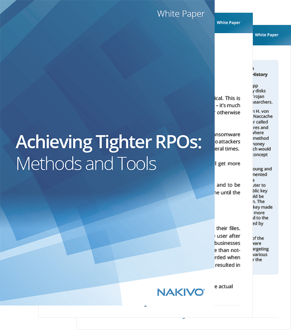Tighter RPOs Methods and Tools
